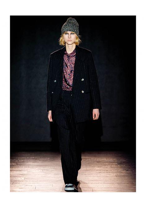 Pantalone in gessato di lana e lino MOMONI | Pantaloni | MOPA0270990