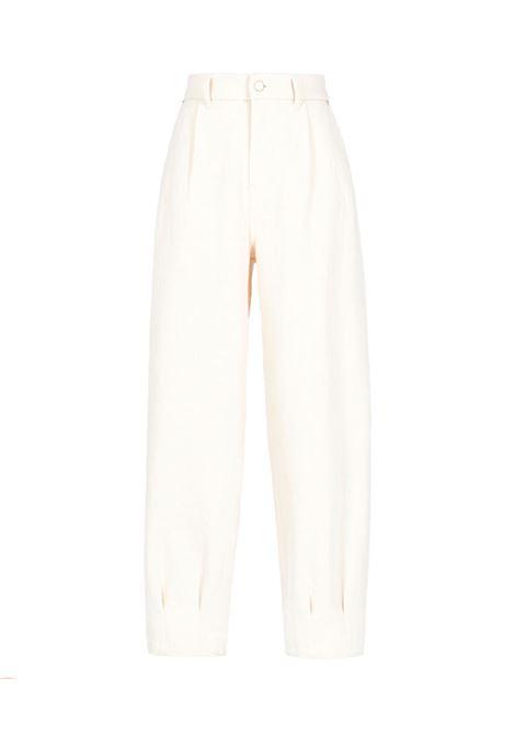 Eolo Pantalone in denim stretch bianco MOMONI | Pantaloni | MOPA0280016
