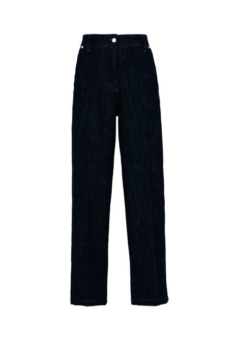 Lira Pantalone in denim stretch nero MOMONI | Pantaloni | MOPA0300990