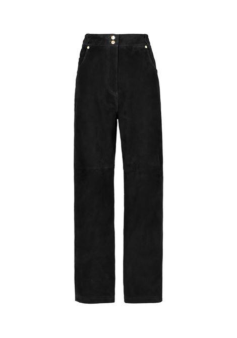 Pantalone in camoscio sodalite MOMONI | Pantaloni | MOPA0320990
