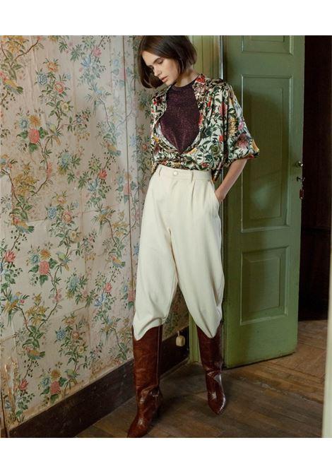 Camicia Aita in raso stretch di seta MOMONI | Camicie | MOSH0031045