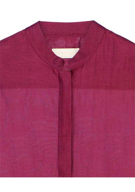 Camicia in voile di cotone e seta vino MOMONI | Camicie | MOSH0080370