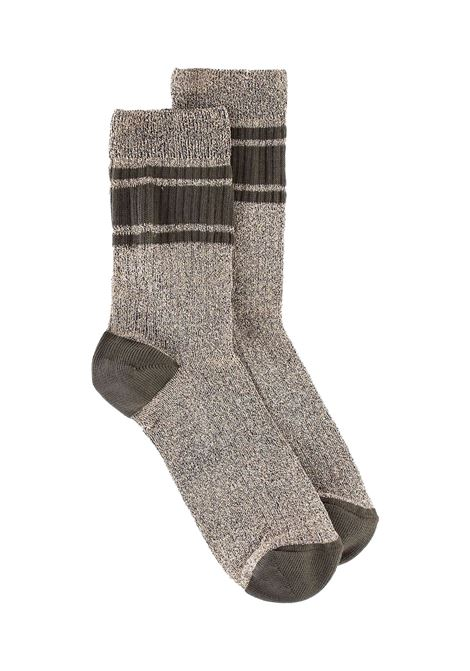 Ribbed sock in black lurex MOMONI | Socks | MOSO0020990