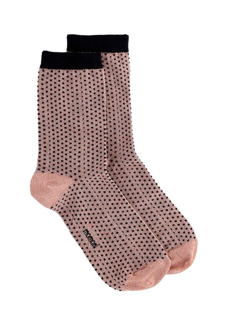 Sock with powder pink polka dots MOMONI | Socks | MOSO0070400