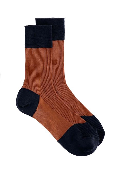 Ribbed sock in silk and wool MOMONI | Socks | MOSO0090618