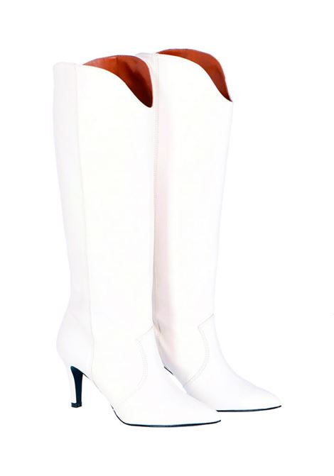 White nappa leather boot MOMONI | Boots | MOSS0010998