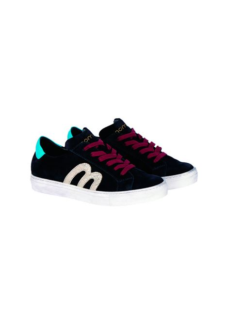 Midnight blue suede sneakers MOMONI | Sneakers | MOSS0060870