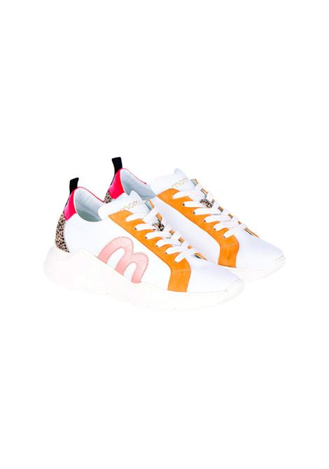 Running sneakers in white leather MOMONI | Sneakers | MOSS0070016