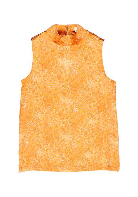 Top in raso stretch di seta beige e oro MOMONI | Top | MOTO0012010