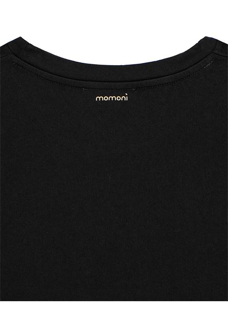 T-shirt in cotone nero MOMONI | Top & T-shirt | MOTS0010990