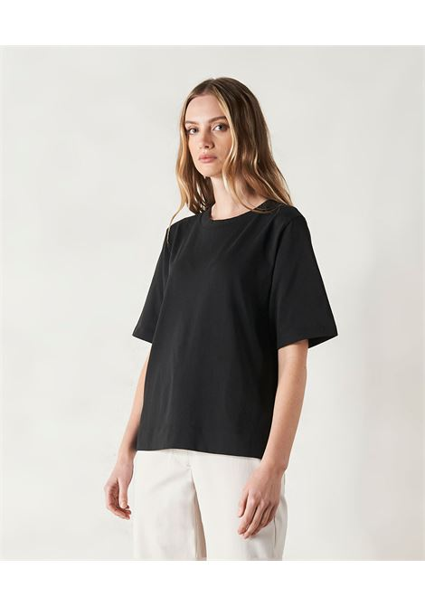 T-shirt oversize in cotone nero MOMONI | Top & T-shirt | MOTS0040990