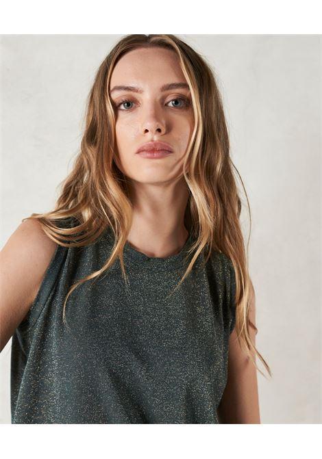 Forest lurex jersey tank top MOMONI   T-shirts   MOTS0060789