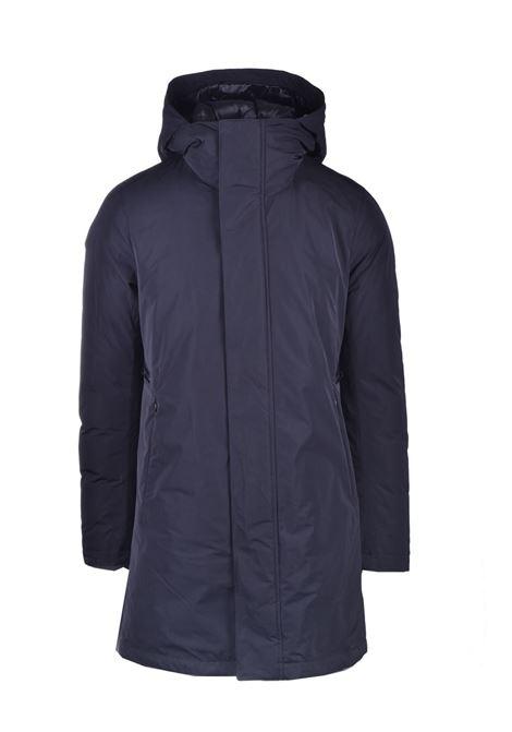 dark blue water-repellent coat with hood MONTECORE | Overcoat | 2920CX137 20256199