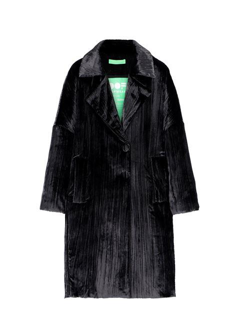 Long coat in black velvet OOF | Coat | OFJA90020990