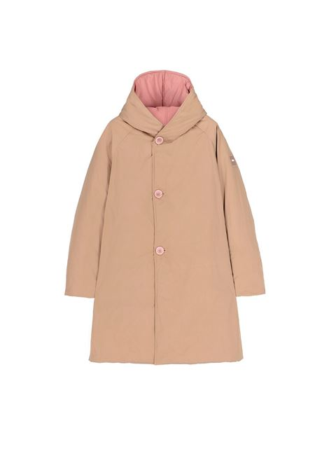 Double face padded coat in camel and blush OOF | Coat | OFJA94104016