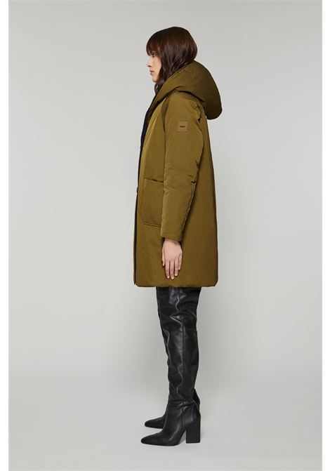 Double face wood and black padded coat OOF | Coat | OFJA94107890