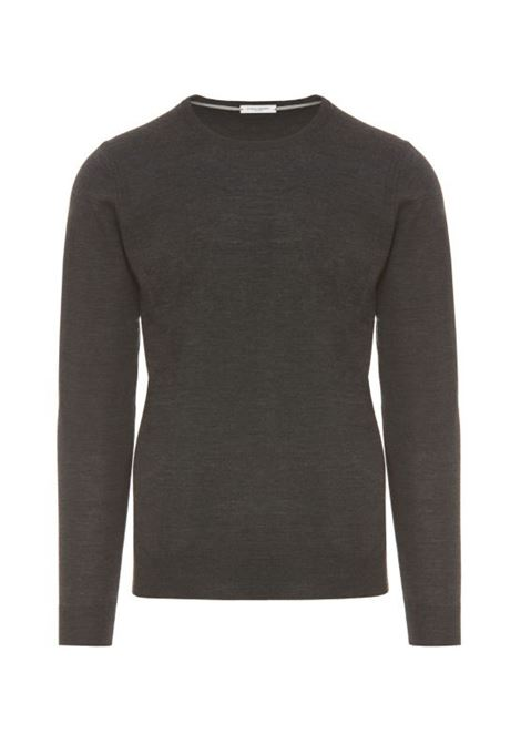 Pullover girocollo grigio scuro PAOLO PECORA | Maglieria | A001-F0018996