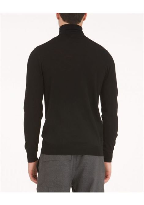Black turtleneck pullover PAOLO PECORA | Knitwear | A003-F0019000