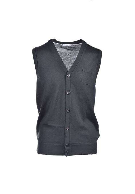 Forest green shaved wool vest PAOLO PECORA | Knitwear | A006-F0015334