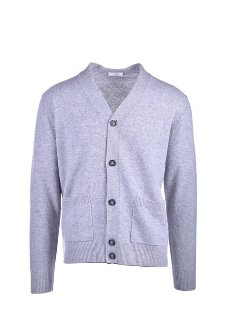 Cardigan with pockets in virgin wool PAOLO PECORA | Knitwear | A018-F0028990