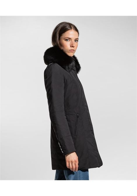Metropolitan Slim fit coat with fur PEUTEREY | Overcoat | PED3617NER