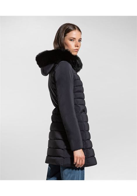 seriola fur Piumino slim fit con pelliccia PEUTEREY | Cappotti | PED3657720