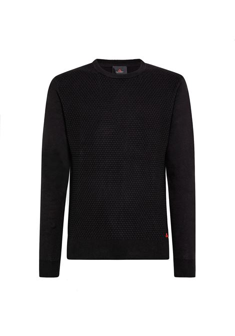 Heap - Cotton tricot and microjacquard wool sweater PEUTEREY | Sweaters | PEU3640NER