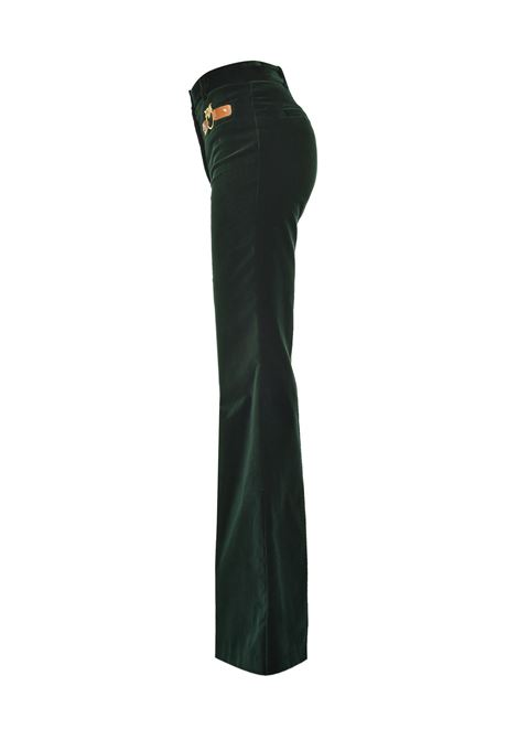 Pantalone di velluto verde PINKO | Pantaloni | 1B14NX-8317X76