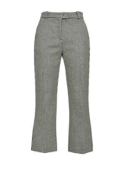 Pantaloni dritti a quadretti PINKO | Pantaloni | 1B14RM-8244ZZ1