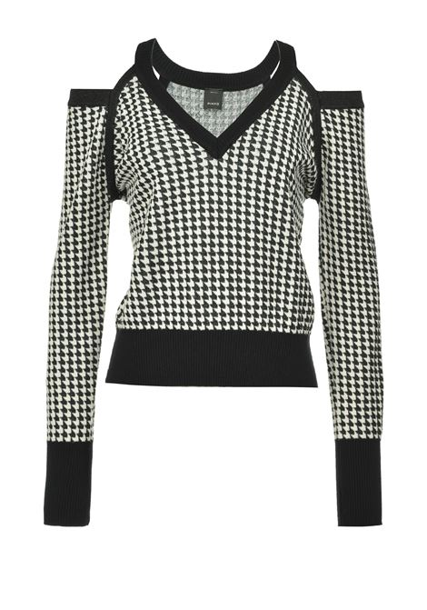 Pullover stampa pied depoule cut out PINKO | Maglieria | 1B14S8-Y6NEZZ2