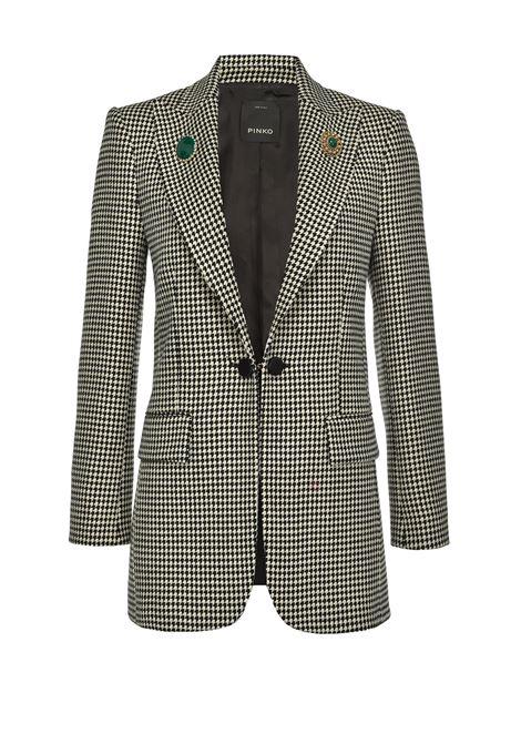 Houndstooth blazer with cufflink PINKO | Blazers | 1B14T0-8244ZZ1