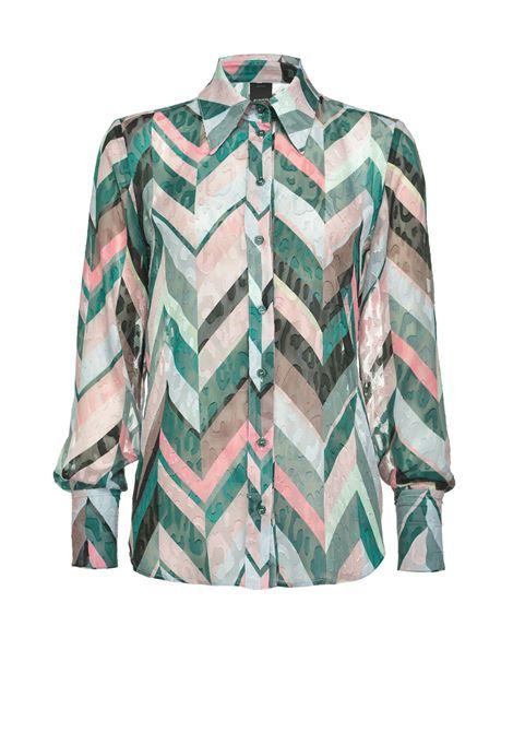 Chevron striped shirt with cufflink PINKO | Shirts | 1B14U0-8296SN2