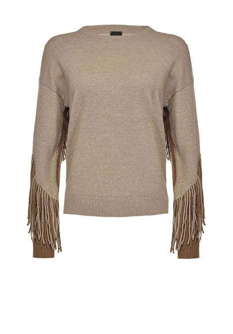 Two-tone pullover with fringes PINKO | Knitwear | 1B14VD-Y694CC3