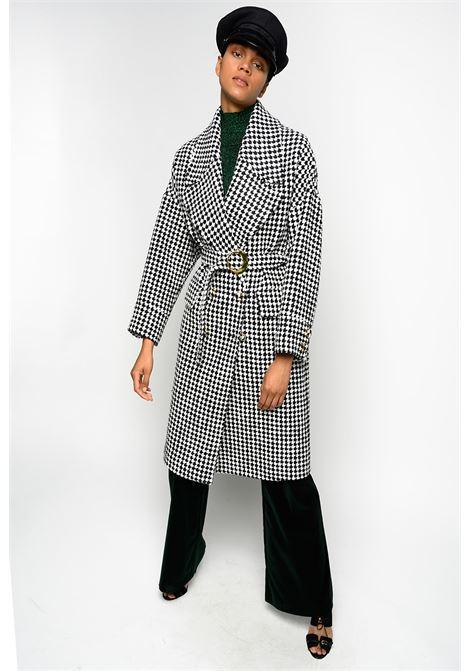 Cappotto vintage in pied de poule PINKO | Cappotti | 1B14WH-8298ZZ1