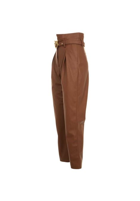 Faux leather trousers with Love Birds gold buckle PINKO | Trousers | 1G1521-Y6BEL96