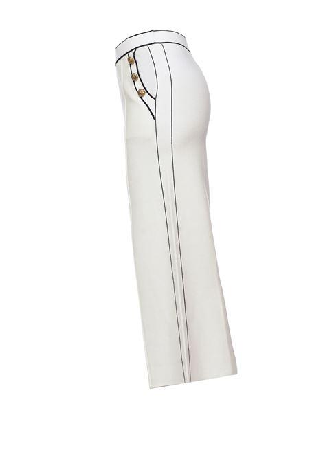 Pantaloni culotte bianchi con bottoni dorati PINKO | Pantaloni | 1G156Y-Y6E3Z08