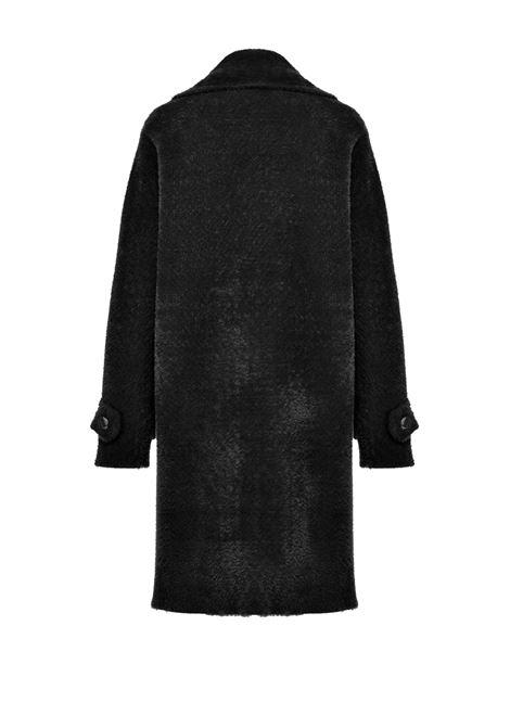 Cappotto doppio petto in faux fur PINKO | Cappotti | 1G157Z-Y6CGZ99