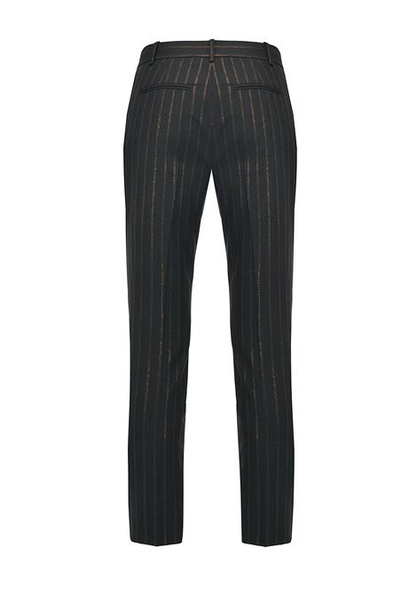 Pinstripe cigarette trousers in lurex PINKO | Trousers | 1G15H3-8146IL0