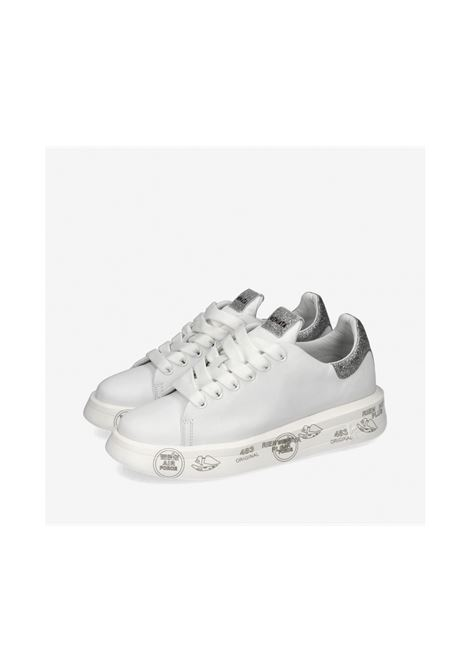 BELLE 4904 White Sneakers with glitters PREMIATA | Sneakers | BELLE4903