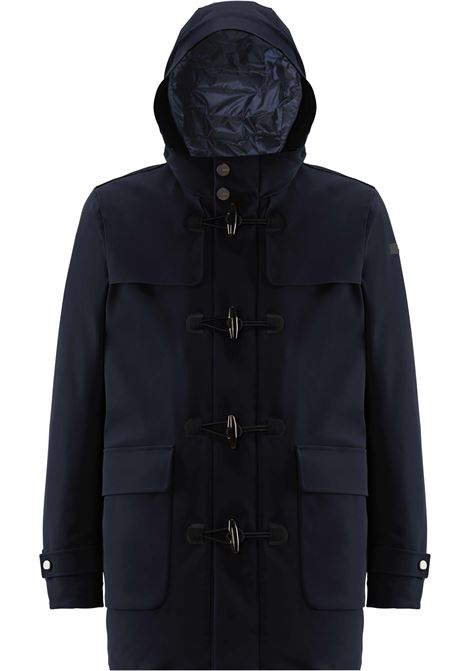 Winter Montgomery in blue technical fabric RRD | Overcoat | 2000660
