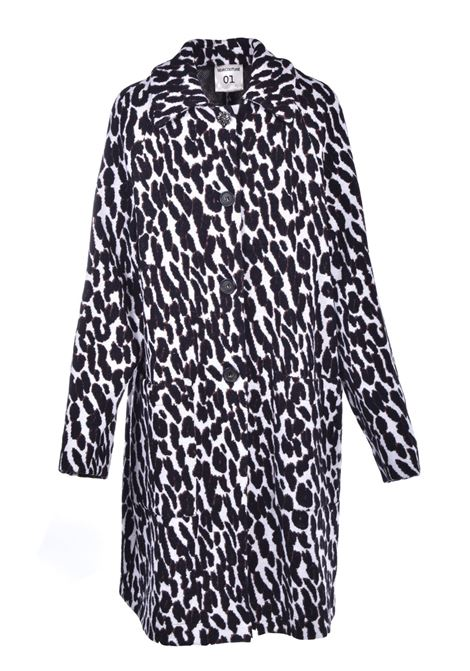 Cashmere and silk blend coat with animalier motif SEMICOUTURE   Coat   Y0WH02MAC07
