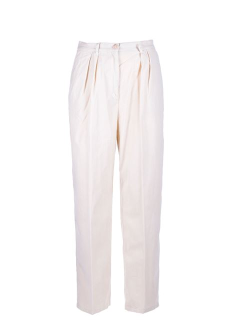 Constan high-waisted micro-ribbed trousers SEMICOUTURE | Trousers | Y0WR03A41-0