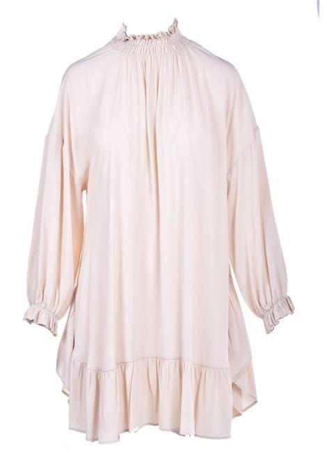 Short dress in crepe de chine meringue SEMICOUTURE | Dresses | Y0WU09A41-0