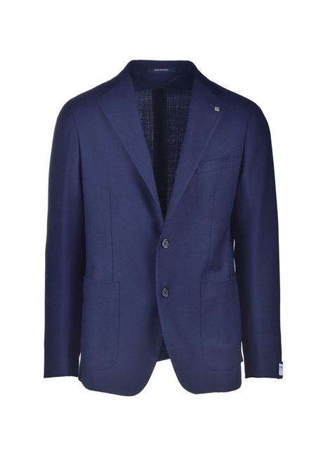 Single-breasted blazer in blue virgin wool TAGLIATORE | Blazers | 1SMC22K 55UIG063B1110