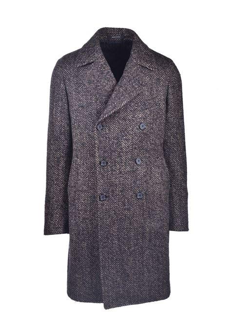 Cappotto doppio petto spigato marrone TAGLIATORE | Cappotti | ARDEN 34SIC294T1344