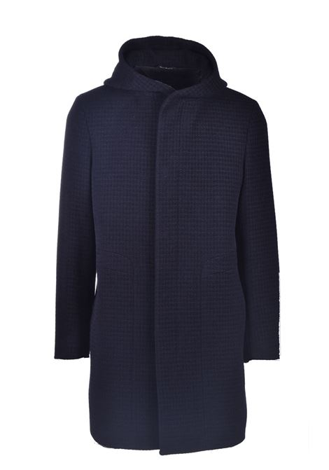 Duffle coat in blue pied de poule TAGLIATORE | Overcoat | CLIFT 77FIC228EN902