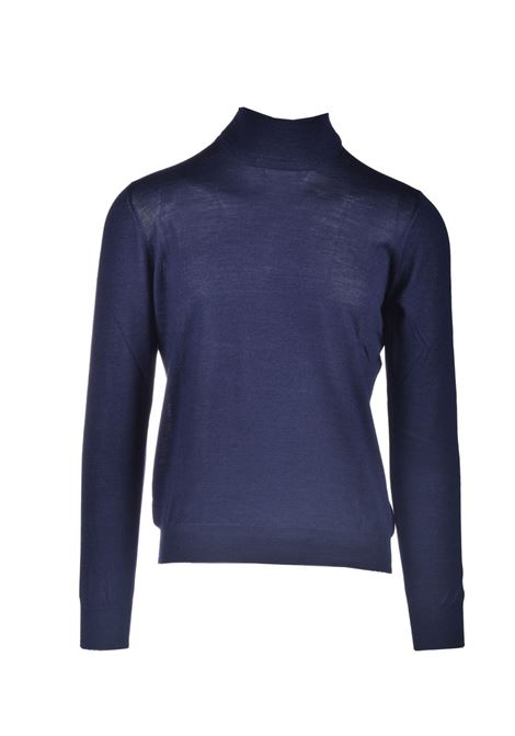 Turtleneck sweater in virgin wool and silk TAGLIATORE | Knitwear | MIKE531 GSI20-11598