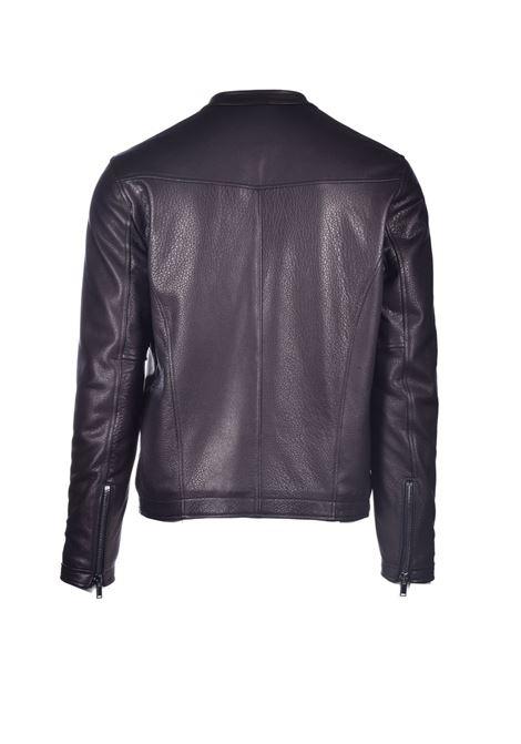 Dark brown leather jacket TAGLIATORE | Jackets | STANFORD ASI20-08NERO