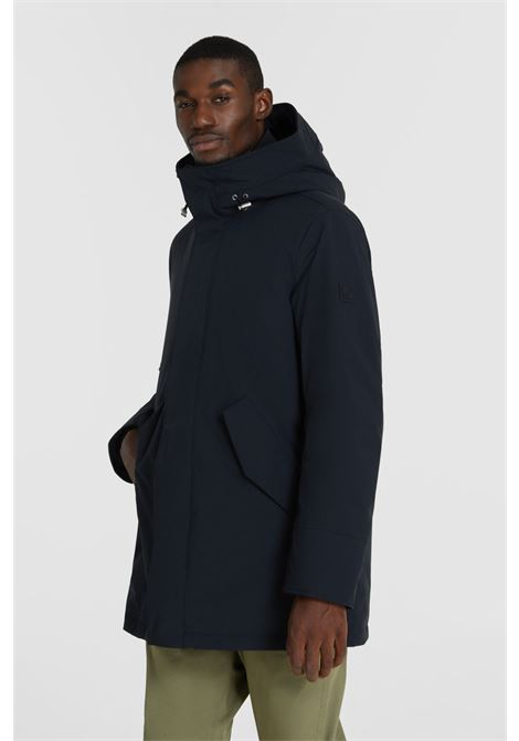 Black stretch mountain parka WOOLRICH | Overcoat | WOOU0268MR-UT0102100