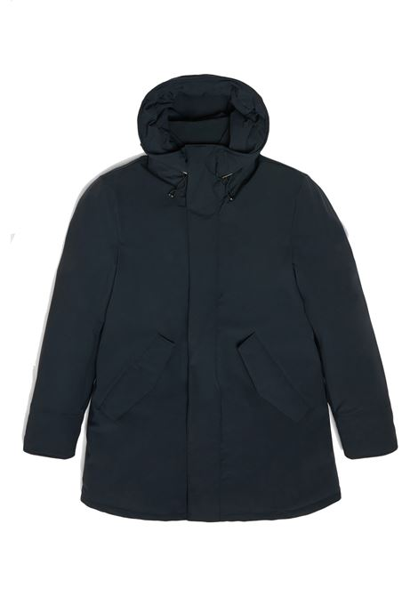 Mountain parka stretch blu WOOLRICH | Cappotti | WOOU0268MR-UT01023989